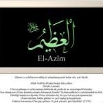 EL-AZİM Esmasının faydaları