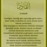EL-KADİR esması ve zikrinin faydaları