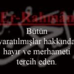 Esmaül Hüsna ile Dua(Ya Rahman)
