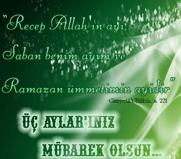 recep ayı Allah'ın