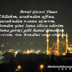 Berat gecesi Duası