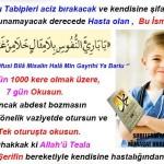 Tıbben aciz kalınan bir hastalıkta okunacak dua