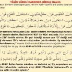 Yâsin Sûresi Hakkında Birkaç Havas(Muradınızın olması için Yâsin Sûresi Okuma Usulü)