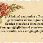 Hazreti Muhammed Berat Kandili'nde şöyle dua ederdi