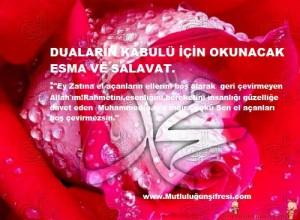 Duaların kabulü için Esma ve salavat