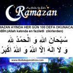 Ramazan ayında her gün 100 defa okunacak çok faziletli zikir