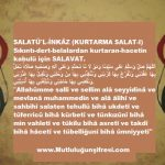Sıkıntı-dert-belalardan kurtaran-hacetin kabulü için(Kurtarma salat-ı)Salatü'l-İnkâz