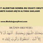 Her abdest aldıktan sonra bu duayı okuyanın sözü
